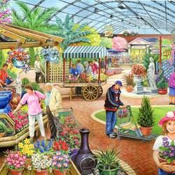 Пазл онлайн: В садовом центре