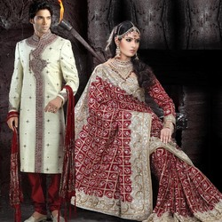 Пазл онлайн: Индийский свадебный костюм