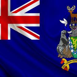 Пазл онлайн: Флаг Южной Георгии и Южных Сандвичевых осровов