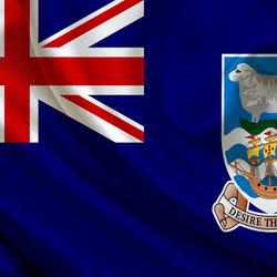 Пазл онлайн: Флаг Фолклендских островов