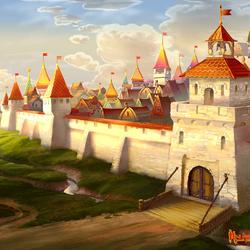 Пазл онлайн: Русский городок