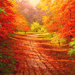 Пазл онлайн: Приходит октябрь