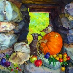Пазл онлайн: Осенний мотив