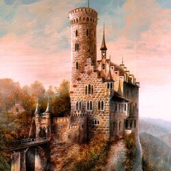 Пазл онлайн: Замок Лихтенштайн