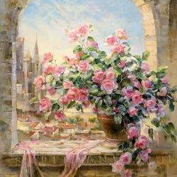 Пазл онлайн: Кустовая роза