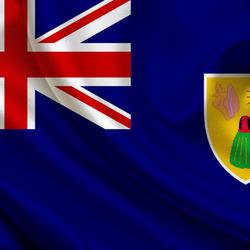 Пазл онлайн: Флаг Теркса и Кайкоса