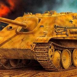 Пазл онлайн: Немецкая ПТ-САУ Jagdpanther