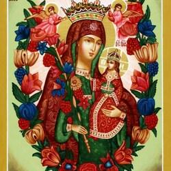 Пазл онлайн: Икона Божией Матери «Неувядаемый цвет»