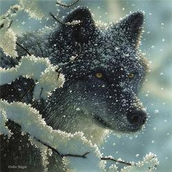 Пазл онлайн: В зимнем песу