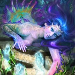 Пазл онлайн: Морская дева