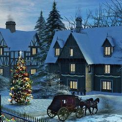 Пазл онлайн: Домой на Рождество