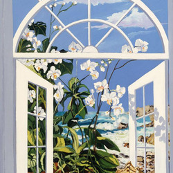 Пазл онлайн: Орхидея на окне