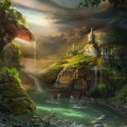 Пазл онлайн: Райский уголок