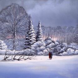 Пазл онлайн: Снежная сказка любви