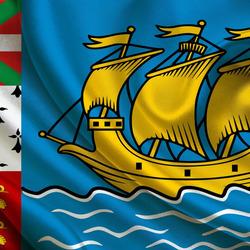 Пазл онлайн: Флаг Сен Пьера и Микелона