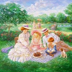 Пазл онлайн: Пикник в парке