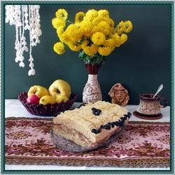 Пазл онлайн: Натюрморт с домашним тортом