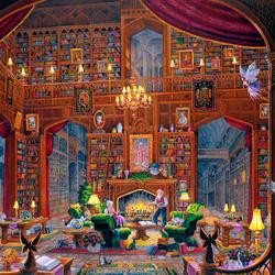 Пазл онлайн: Библиотека