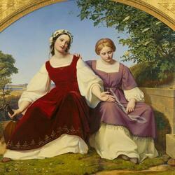 Пазл онлайн: Две девочки