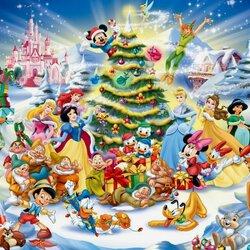 Пазл онлайн: Новый год в Диснейленде