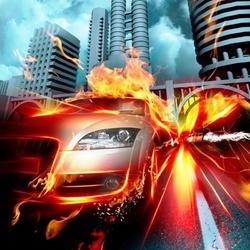 Пазл онлайн: В огне