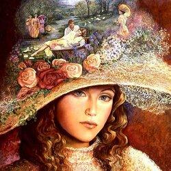 Пазл онлайн: Бабушкина шляпка
