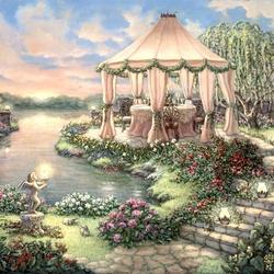 Пазл онлайн: Садовая вечеринка