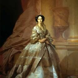 Пазл онлайн: Портрет императрицы Марии Александровны, жены Александра II