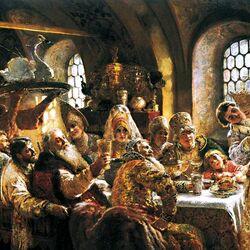 Пазл онлайн: Боярский свадебный пир