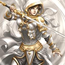 Пазл онлайн: Белый рыцарь