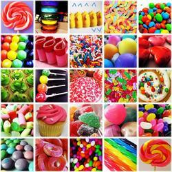 Пазл онлайн: Разноцветные лакомства