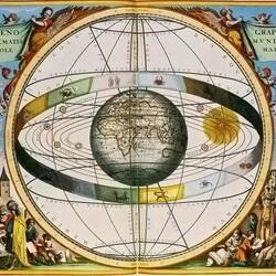 Пазл онлайн: Геоцентрическая модель Солнечной системы