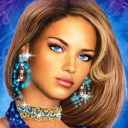 Пазл онлайн: Девушка с голубыми глазами