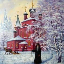 Пазл онлайн: Красная церковь