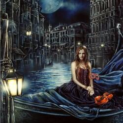Пазл онлайн: Ночь в Венеции