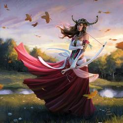 Пазл онлайн: Порыв ветра