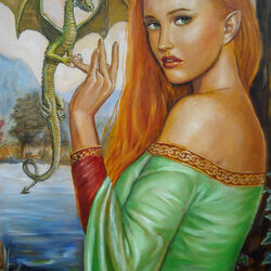 Пазл онлайн: Окольцована драконом