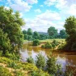 Пазл онлайн: Река Казанка