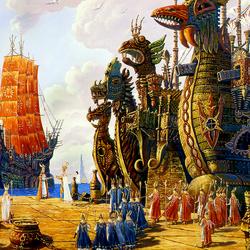 Пазл онлайн: Ведическая Русь. Флот Гипербореи выполнит приказ