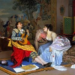 Пазл онлайн:  Гитары звонкая струна