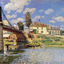 Пазл онлайн: Мост в Вильнев-ла-Гаренн