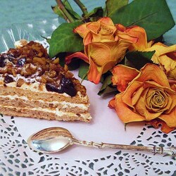 Пазл онлайн: Ореховый тортик