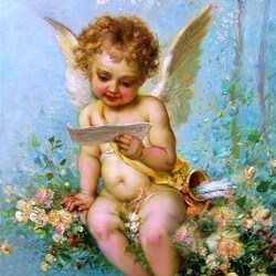 Пазл онлайн: Читающий амур