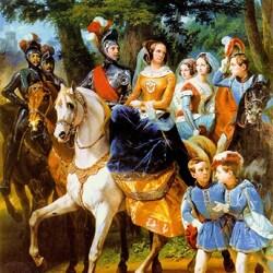 Пазл онлайн: Групповой портрет семьи Николая I