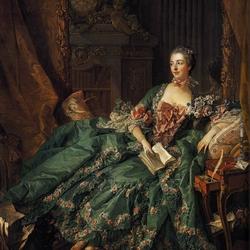 Пазл онлайн: Портрет маркизы де Помпадур