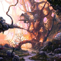 Пазл онлайн: Дом на дереве