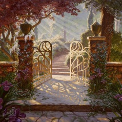 Пазл онлайн: Ворота в сад