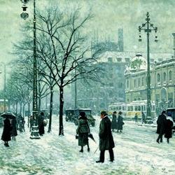 Пазл онлайн: Снежный город
