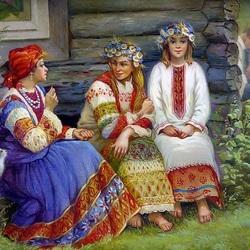 Пазл онлайн: Три девицы