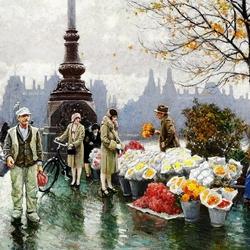 Пазл онлайн: Продавцы цветов